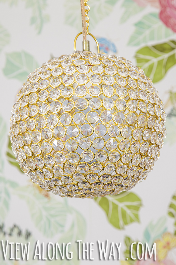 DIY crystal chandelier!! ADORE.