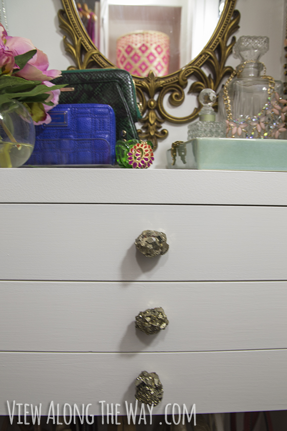 DIY precious stone knobs, like Anthropologie's $128 version but for MUUUCH less!
