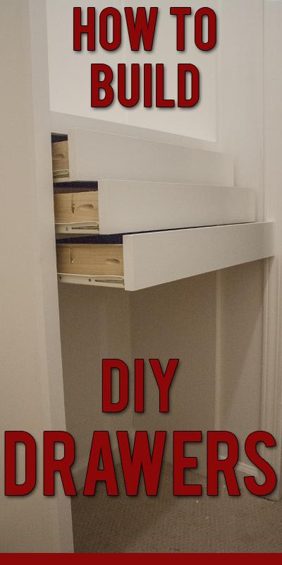 How To Build Custom Closet Drawers