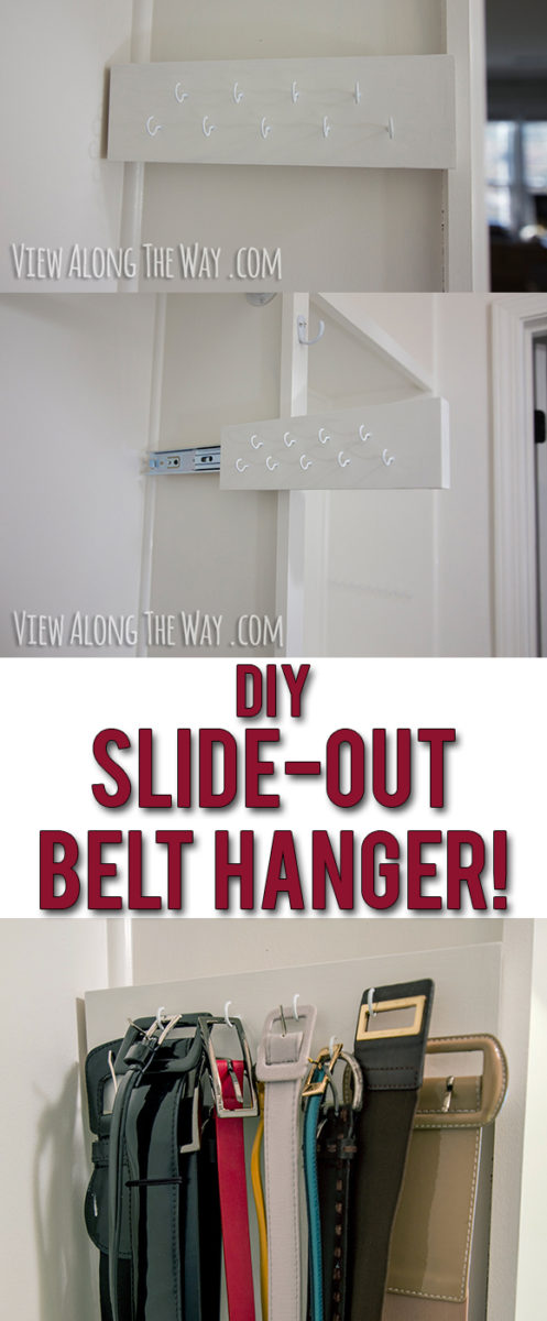 I totally need this! Easy and inexpensive to make your own belt holder that slides out!