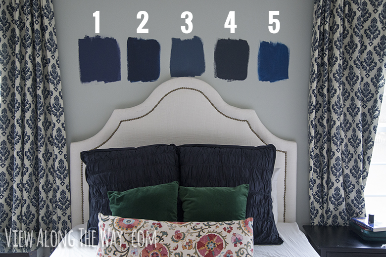 Choosing navy blue paint colors