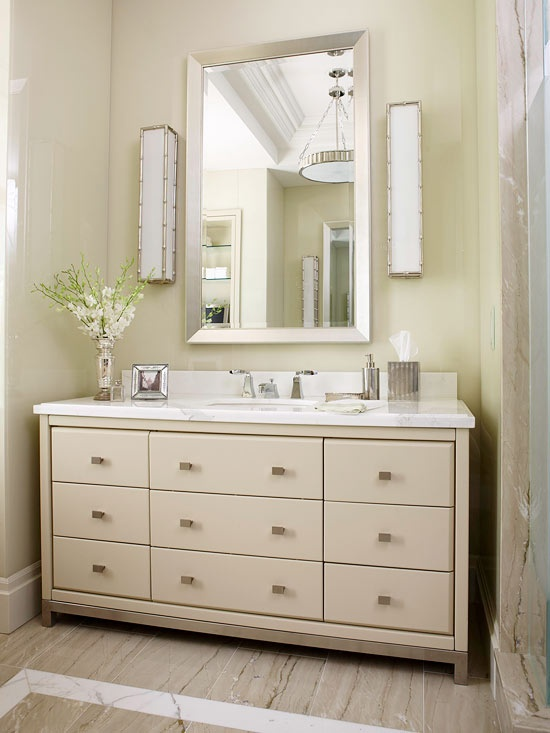 Fabulous Bathroom vanity with gaps on the side