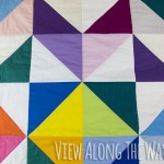 Close-up of triangle quilt